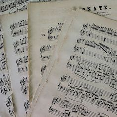 19 Vintage Music Sheets Single Sheets by 3rdshelffromthetop, $12.00