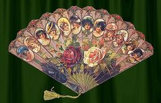 Victorian vintage hand fan
