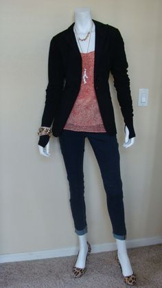 Daily Look:@CAbiClothing #Spring13Fashion Tiered Cami & Chic Jacket w fall Ballet Arm Warmers & spring12 Bree Jean