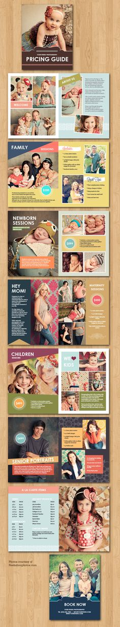 Templates for Photoshop. All In One Pricing Guide Magazine Pricing guide magazine template for photographers. Photography Templates, Photography Pricing, Photography Marketing, Photography 101, Photography Branding, Photography Business, Photography Tutorials, Photography Backdrops, Digital Photography
