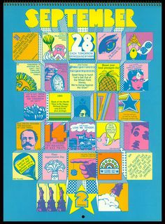 We've featured the almost Pythonsesque work of Push-Pin studios and their pseudo-psychedelic (don't know if that's the right expression but it sounds good) images and now we're paying them a second visit to look at a calendar they designed for Hallmark cards in 1970. Clearly the psychedelic bandwagon was trundling along at full-speed when this [&hellip