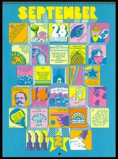 Psychedelic Hallmark Calendar, 1970 - 9/70 by MewDeep, via Flickr