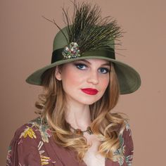 7299HLSB Helena, olive – Louise Green Millinery