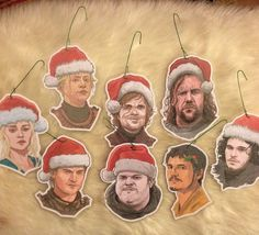 Game of Thrones Christmas Ornament 8 Pack by CastleMcQuade on Etsy