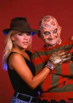 Robert England (as Freddy) & Samantha Fox