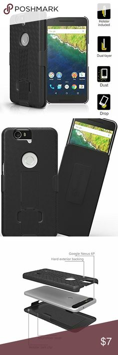 Nexus 6P Belt Clip Case Nexus 6P Case, Stalion Secure Series Shell Case with Kickstand and Belt Clip Holster designed for the Huawei Google Nexus 6P!  The Rubberized texture makes gripping your phone easy and will also Secure your Nexus 6P with maximum shockproof protection with internal tpu lining for impact security.  *BUNDLE WITH OTHER ITEMS TO SAVE ON SHIPPING & 15% OFF BUNDLE DISCOUNT* Accessories Phone Cases