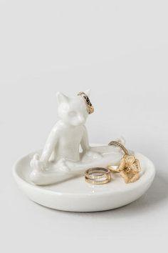 Yoga Cat Ring Holder