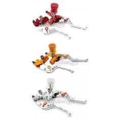 Honda Grom MSX125 Brake Clutch Master Cylinders Adjustable Levers With Fluid Reservoir #msx125 #grom #hondagrom #hondamsx125