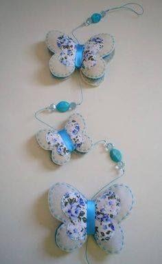 Moldes para hacer mariposas con fieltro y
