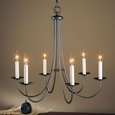 You cant beat simple love these lines lighting pinterest simple sweep six arms chandelier aloadofball Choice Image