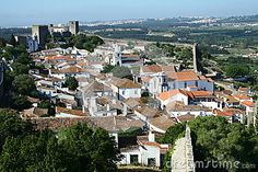 Obidos village panorama in Portugal