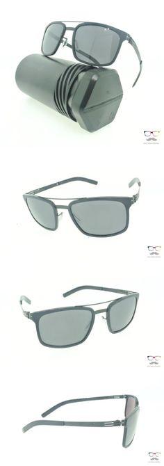 Other Unisex Eyewear 179246: Ic! Berlin Sunglasses Sunny Obsidian Black Aviator Frames Obsidian Lenses 54Mm -> BUY IT NOW ONLY: $285 on eBay!