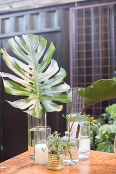 Palm leaf decor | Wedding & Party Ideas | 100 Layer Cake