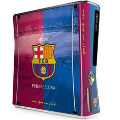 - Xbox 360 slim console skin- anti-fade- waterproof bubble-free finish- anti-scratch- easy application- no residue when removed- in a display packet- official licensed productShipped from UK. Fc Barcelona, Portable Game Console, Xbox 360 Console, European Soccer, Consoles, Card Games, Bubbles, Football, Slim