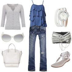 White and Silver on Polyvore