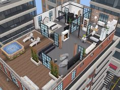 House 109 Penthouse level 2 #sims #simsfreeplay #simshousedesign