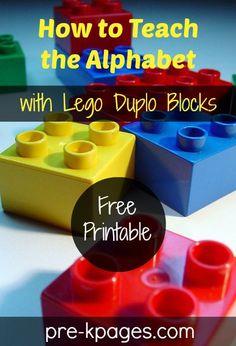 Teach Alphabet Matching Skills with Free Printable Recording Sheet #preschool #kindergarten