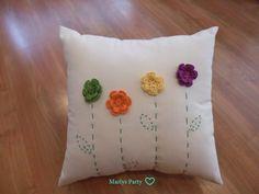 GORETTI'S TIENDA Crochet Cushion Cover, Crochet Cushions, Sewing Pillows, Crochet Pillow, Diy Pillows, Cushion Covers, Decorative Pillows, Throw Pillows, Farm Crafts