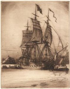 The arrival of the convict ship Surry in Sydney Harbour [picture]