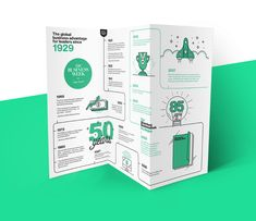 Creative Brochure Design Ideas & Examples - Daily Design Inspiration - Venngage Gallery Need some new ideas to help you create the perfect creative brochure? Check out some of these beautiful & professional creative brochure design ideas! Brochure Indesign, Template Brochure, Brochure Examples, Brochure Layout, Brochure Trifold, Pamphlet Design, Leaflet Design, Booklet Design, Graphic Design Brochure