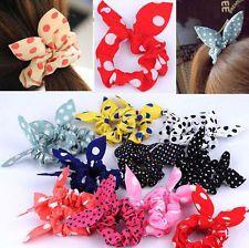 10pcs Rabbit Ear Hair Tie Bands Accessories Japan Korean Style Ponytail Holder