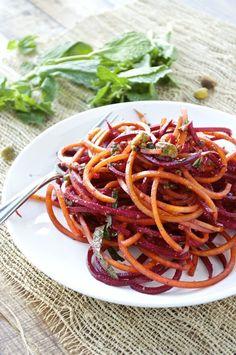 Spiralized Beet Salad