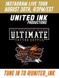 """The World Famous Tattoo Ink, Ultimate Tattoo Supply and United Ink Productions(aka New York Tattoo Show) family is now under ONE massive roof in South Carolina, and TODAY(August 30th) we are going LIVE on Instagram Stories to give you a peek inside our blank canvas that is being built and put together as we speak.  Tune in to the @United_Ink Instagram page at 3pm EST to join us as we show the world what our teams are up to!  Head to http://Instagram.com/United_Ink and hit """"follow"""" for…"""