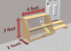 I've seen a few different solutions for securing your litter box in the garage, but this is the nicest yet! The new Pet Outhouse is a stylish enclosure that contains the litter box safely in the garage, allowing your cat to access. Diy Litter Box, Litter Box Enclosure, F2 Savannah Cat, Cat Room, Outdoor Cats, Cat Furniture, Cat Life, Crazy Cats, Dog Cat