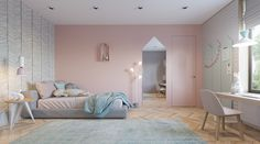 modern and cute girls bedroom