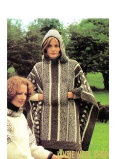 INSTANT DOWNLOAD    Vintage 70s Crochet EWOK HOODED Poncho - PDF Pattern Voilà! We found a vintage 70s Crochet EWOK Poncho Pattern. Snug hood that