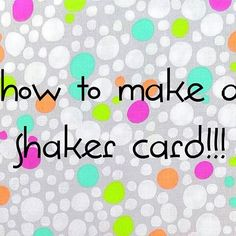 Just uploaded Menagerie Stamp's debut how-to video! How To Make a Shaker Card is now available for viewing at: http://buff.ly/2nH3TyL It's a #stopmotion tutorial with all the information you need to create your very own #shakercard.