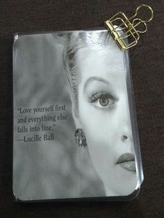 Lucille Ball Quote Dashboard, Traveler's Notebook Dashboard, Quote Dashboard, Midori Dashboard by DeckYourPlanner on Etsy