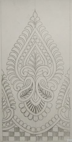 Indian Embroidery Designs, Embroidery Art, Embroidery Patterns, Art Patterns, Pattern Art, Wallpaper Backgrounds, Wallpapers, Pencil Design, Fabric Painting