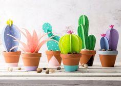 Paper Cactus Planter