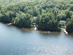 Lake Huard is one of the most beautiful lake in Lanaudière! View of the breathtaking sunset! Land of 35 000 square feet. 3 bedrooms house very . Stove Fireplace, Wood Fireplace, 3 Bedroom House, Real Estate Broker, Square Feet, Most Beautiful, Houses, Sunset, Landscape