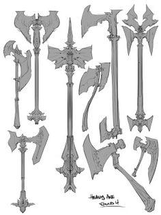 Art by Paul Richards a.a Autodestruct* Armor Concept, Weapon Concept Art, Character Art, Character Design, Character Concept, How To Draw Weapons, Mode 3d, Beil, Sword Design