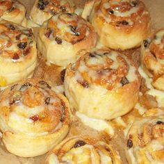 Step by step Chelsea buns recipe with apricot jam glaze and lemon drizzle icing