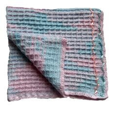 Crochet Vintage Baby Blanket in DK Wool - Handmade with love from Rye Baby. The blanket measures: 93cm x 101cm An ideal gift for a new baby. Our vintage blankets are made from double knit baby wool
