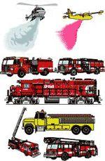 Огонь и пожар клипарты