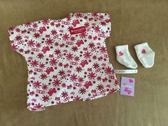 American Girl Doll Hospital gown outfit clothing New socks wrist band #AmericanGirl #Dolls