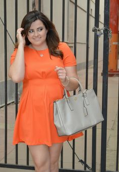 How adorable is this Orange Pleated Dress from Nordstrom? Live on the blog!