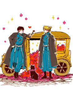 Fullmetal Alchemist - Roy Mustang x Riza Hawkeye - Royai cute this ship will kill me 鋼の錬金術師 Fullmetal Alchemist, Fulmetal Alchemist, Roy Mustang, Anime Manga, Anime Art, Tokyo Ghoul, Fairy Tail, Animes On, Alphonse Elric