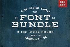 60% OFF Font Bundle - 14 Font Styles by Greg Nicholls on @creativemarket