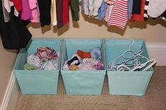 """I love the idea of zoey being able to """"hand me a hanger"""" when i need it to put away laundry, and she already loves to sort out her own stuff. i gotta make some bins for her!"""