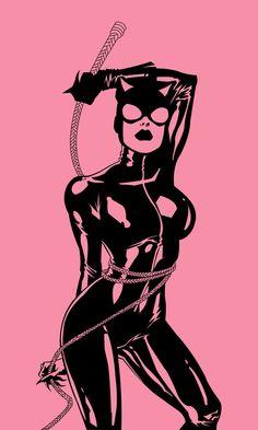 Catwoman Illustration by Andrew Atle Catwoman Cosplay, Batman Und Catwoman, Batgirl, Batman Kunst, Batman Art, Buda Wallpaper, Desenho Pop Art, Catwoman Selina Kyle, Gotham Girls