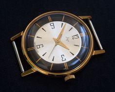 LUCH 2209 23J Gold Plated AU20 Mechanical Soviet Russian USSR Watch 100%Original #Luch #DressFormal