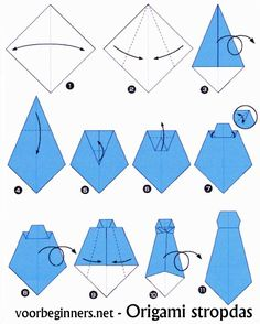 How to make an Origami Neck Tie! How to make an Origami Neck Tie! Origami Tie, Origami Shirt, Origami Dress, Origami Paper, Diy Paper, Paper Crafts, Origami Boxes, Dollar Origami, Origami Ball