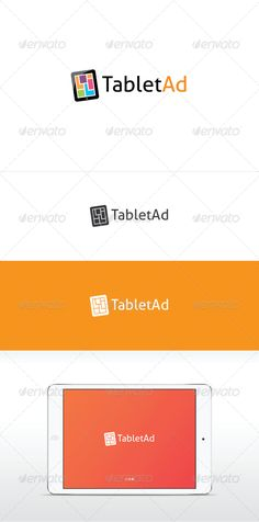 Tablet Ad   Logo Design Template Vector #logotype Download it here: http://graphicriver.net/item/tablet-ad-logo-template/2702313?s_rank=879?ref=nexion
