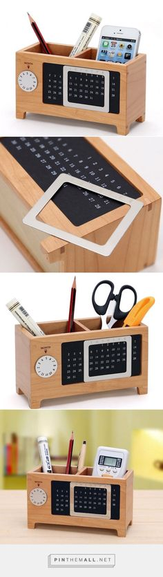 Wood Perpetual Calendar Storage Box