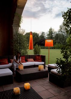 modern lamps come in a range of funky colors that grab your attention and illuminate the night.